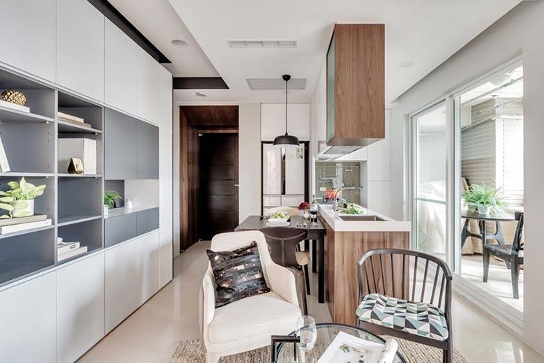 50㎡现代一居室公寓厨房实景图