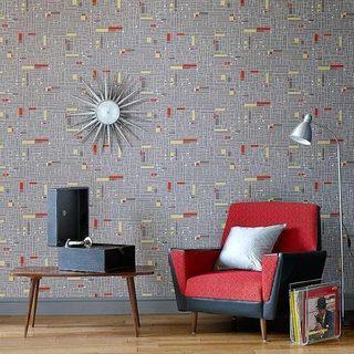 客厅复古墙纸设计平面图