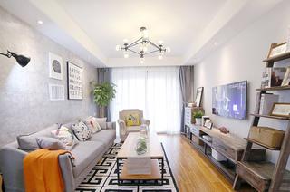 北欧风格两居客厅装潢设计