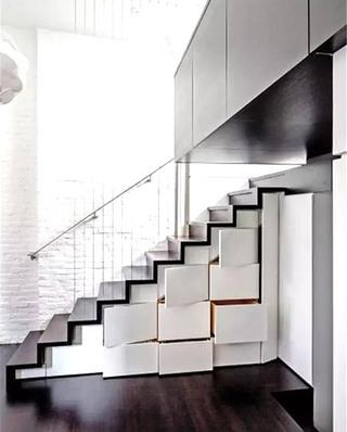 楼梯下收纳柜装修装潢图