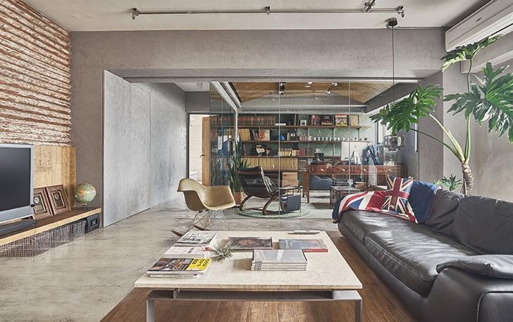 让人喜爱的工业风格装修 水泥也能表现美感客厅设计