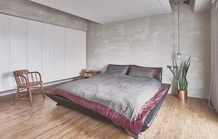 让人喜爱的工业风格装修 水泥也能表现美感卧室设计