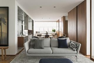 舒适冷色调北欧风 布艺沙发设计