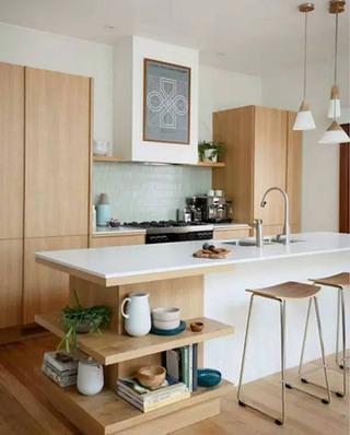 日式风格厨房吧台设计图
