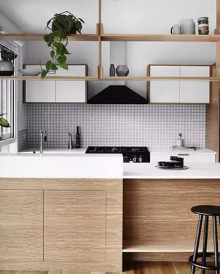 日式风格厨房装潢装饰图