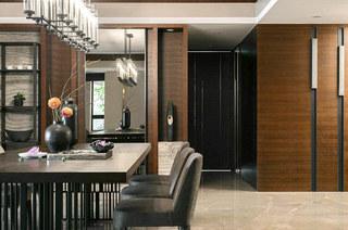 新中式风格餐厅装潢设计图