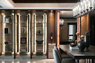 新中式风格餐厅展示柜装修