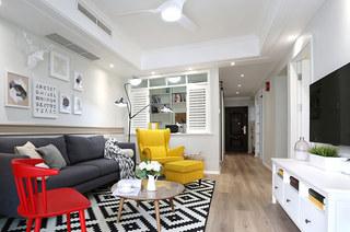 90平北欧三居客厅装潢设计