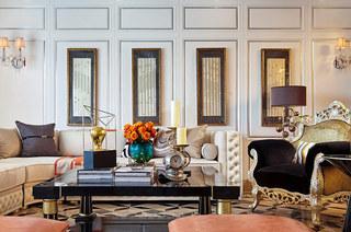 280平欧式古典样板房客厅效果图