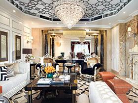 280平欧式古典风格样板房装修 奢华精粹