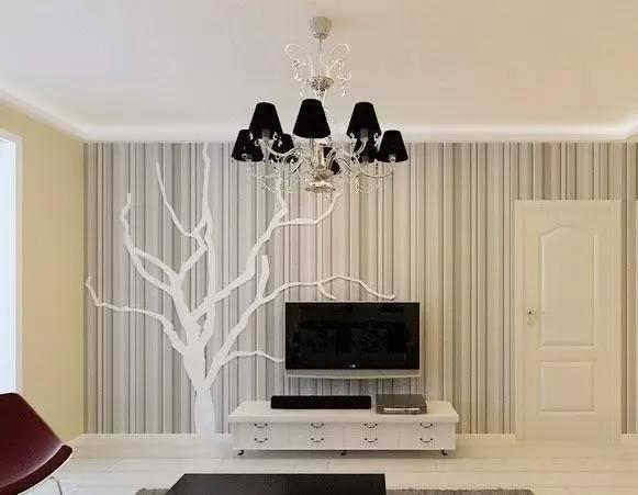 木板竖条电视背景墙