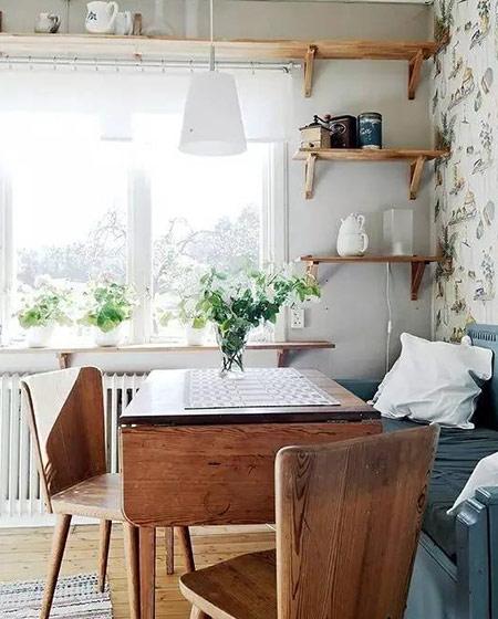 餐厅木质餐桌效果图装修