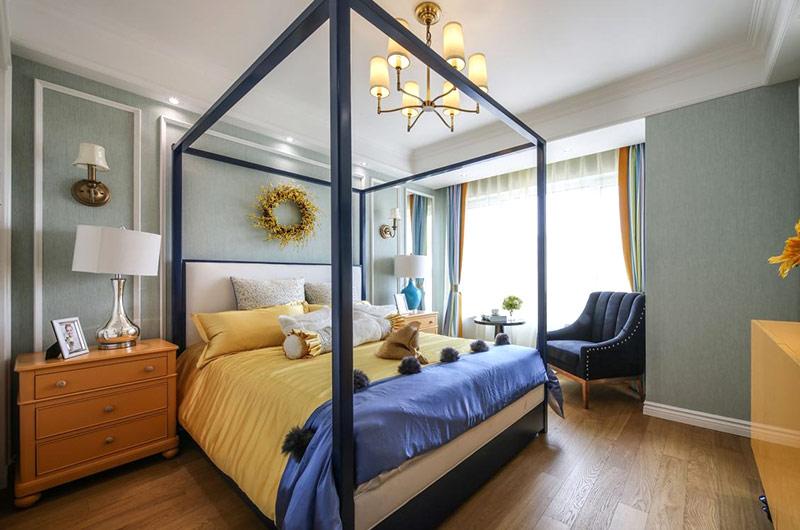 145平美式样板房木质地板装修