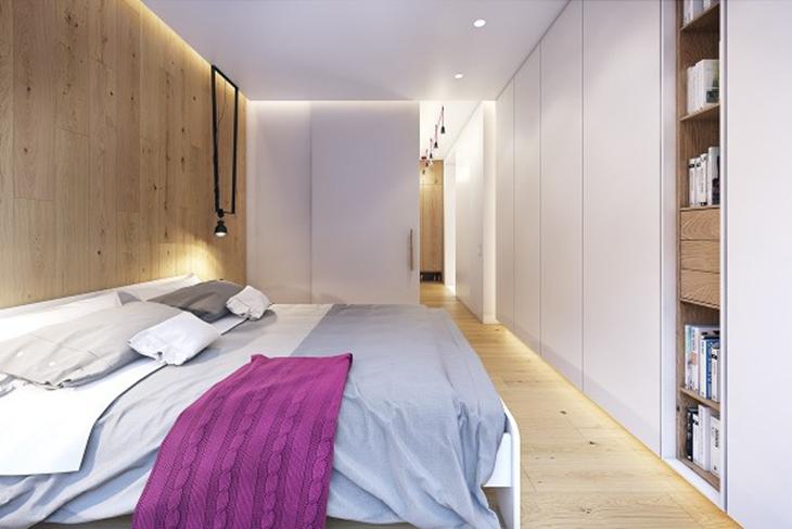 舒适十足三居室装修主卧双人床