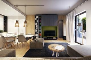 舒适十足三居室装修客厅装潢