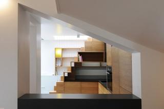 小户型loft风格装修收纳柜图片