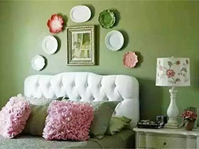 盘子装饰背景墙效果图 家居中充满艺术气息