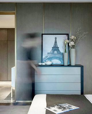 简约风格公寓卧室展示柜设计
