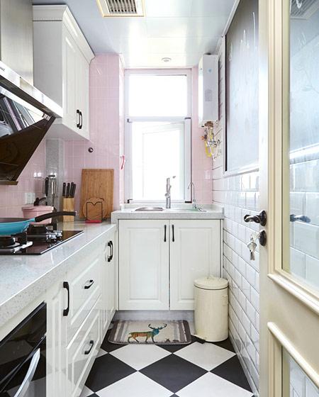 简约波普风混搭厨房效果图