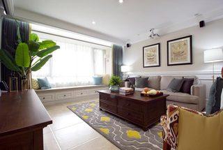 135㎡美式三居室客厅效果图