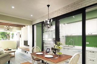 86平美式风格二居餐厅吊灯图片