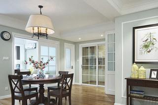 129平美式风格公寓餐厅效果图