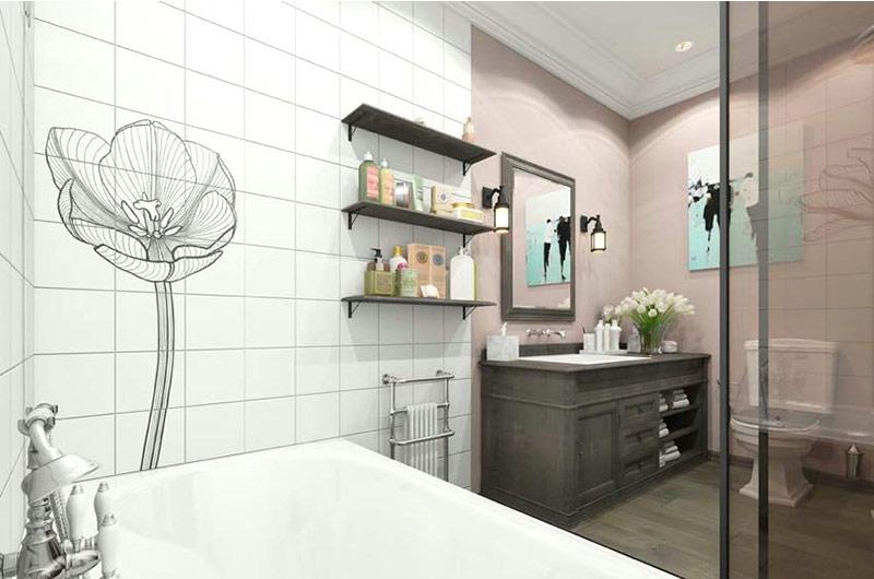 混搭风格公寓卫生间瓷砖图片