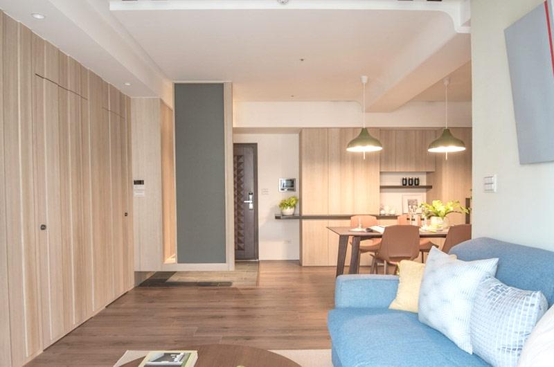 60平日式二居室木质地板装修