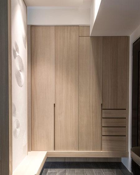 自然日式原木玄关鞋柜设计
