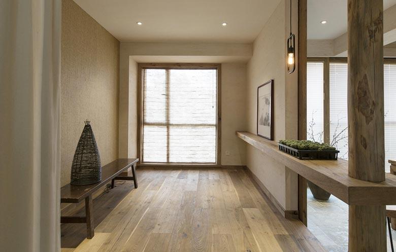 120㎡现代中式公寓玄关效果图