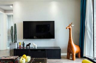 100平混搭风格公寓电视柜图片