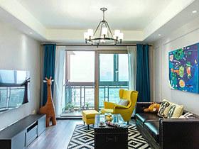 100平混搭风格公寓效果图 色彩大行其道