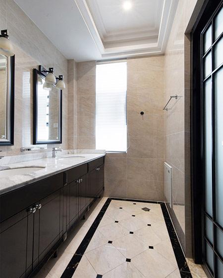 新中式风格别墅卫生间装修图图片