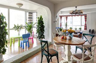 地中海风格餐厅阳台隔断设计