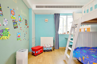 150平北欧复式楼儿童房效果图