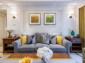 130平休闲美式风格装修 让时光温暖家