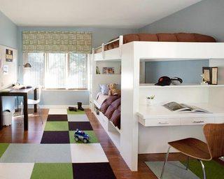 儿童房高低床设计实景图
