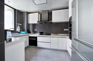138平简约公寓厨房装潢装修图