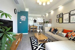 83平两室两厅装修客厅效果图