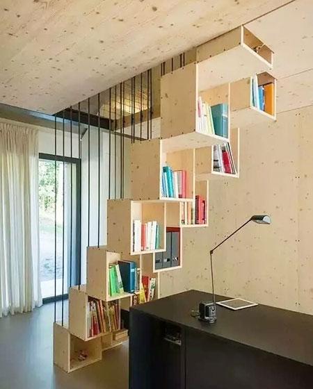 个性楼梯书架效果图