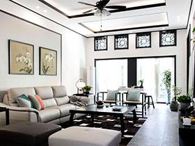 新中式别墅设计 清新水墨气息