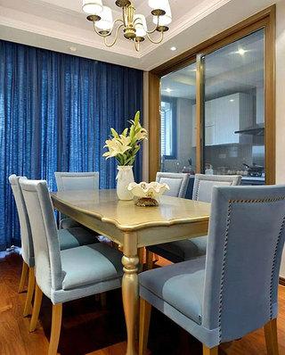 130平美式风格装修餐厅装潢设计