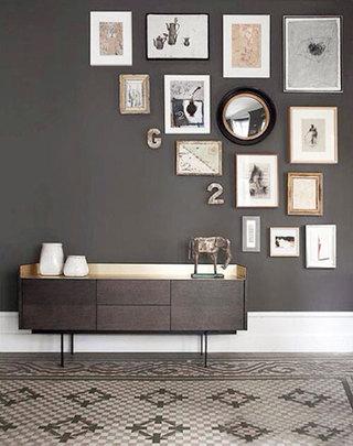 室内照片墙设计摆放图
