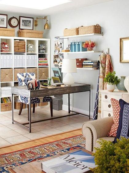 家庭工作室装修装饰效果图