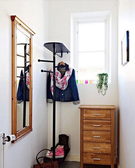 实木玄关鞋柜设计图片