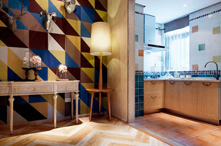 65平小户型样板房厨房装潢图