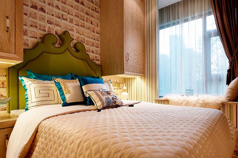 浪漫北欧风卧室背景墙设计