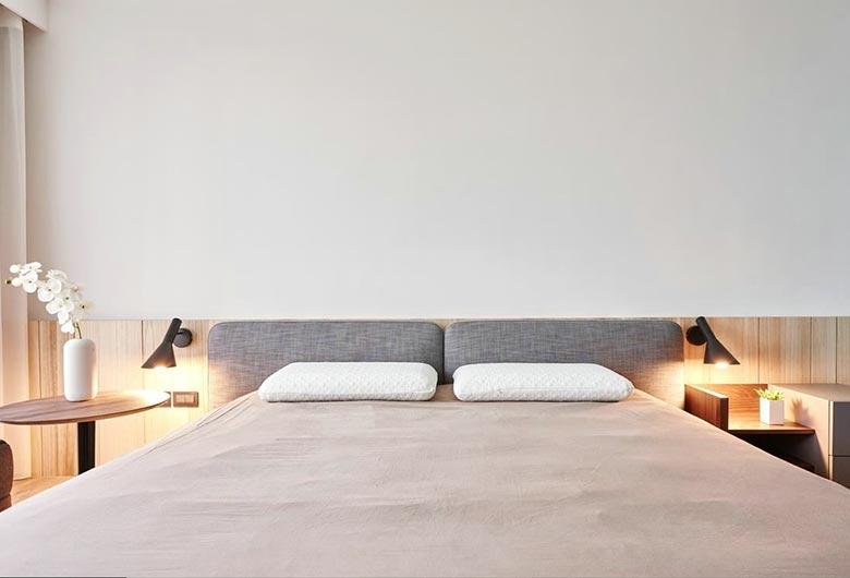 60㎡简约设计床头背景图