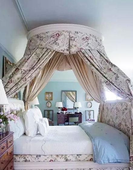 卧室床幔装饰图片