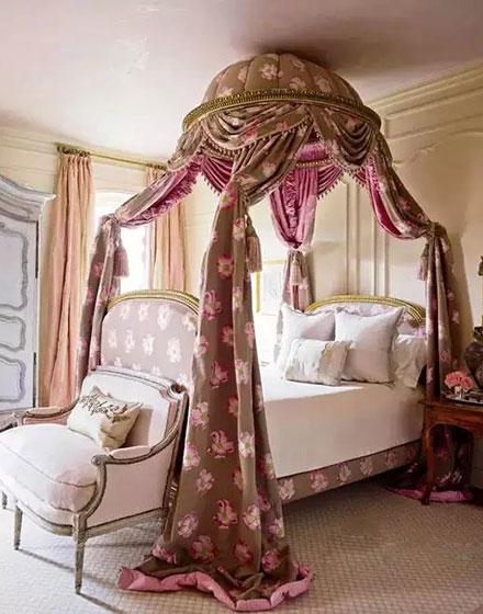 欧式风格卧室床幔效果图装修
